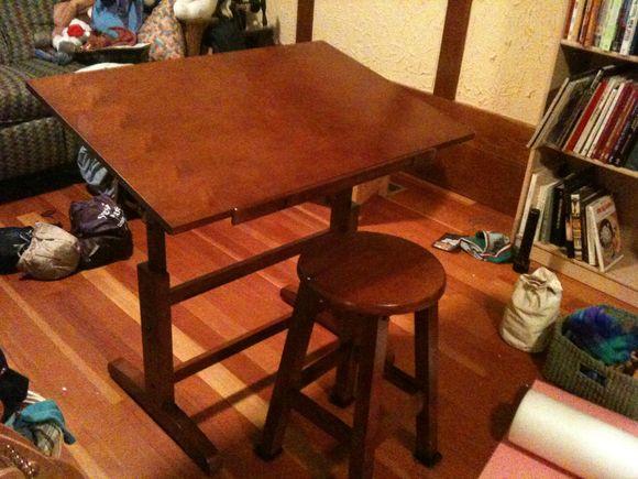 My new art table